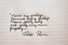 Peter pan said