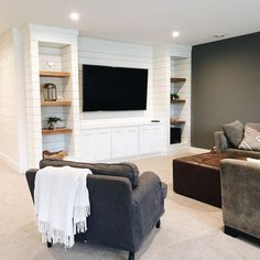 Apartment A Guide on Sexual Health and Aging In most movies and television shows, scenes that are se Basement Makeover, Basement Renovations, Home Remodeling, Basement Ideas, Basement Inspiration, Interior Inspiration, Basement Living Rooms, Basement House, Basement Ceilings