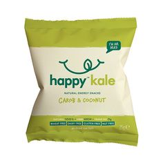 Happy Kale Natural Energy Snacks, Carob & Coconut