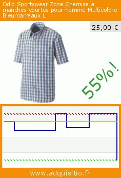 Odlo Sportswear Zone Chemise à manches courtes pour homme Multicolore Bleu/carreaux L (Sports Apparel). Réduction de 55%! Prix actuel 25,00 €, l'ancien prix était de 55,00 €. https://www.adquisitio.fr/odlo/sportswear-zone-chemise-3