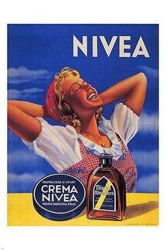 Crema Nivea Romania Nivea Ulei De Nuca Cream - Mad Men Art: The Vintage Advertisement Art Collection Vintage Advertising Posters, Old Advertisements, Vintage Images, Vintage Designs, Pub Vintage, Old Commercials, Retro Ads, Old Ads, Flyer
