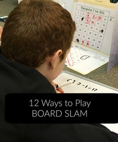 Math Game, Board Slam, can be played straight up or by using one of these fun 12 variations on ways to play.