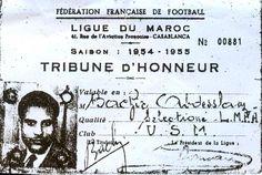 photo carte de tribune d'honneur Bachir Abdeslem 1954