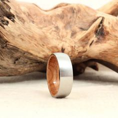 wood lined tungsten mens rings - Google Search