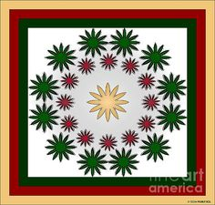 This abstract image is created from flower cutouts of other photos in my gallery. Find it for sale at http://www.fineartamerica.com/shop/marian-bell.html