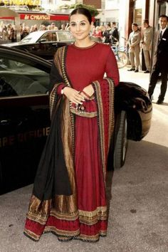 <p>Looking very ethnic in a Sabyasachi <em>lehenga-choli</em> and <em>dupatta</em>, Vidya Balan wowed us with her typical Indian avatar at the 66th Cannes International Film Festival.</p>  <h5>Image Courtesy: Sabyasachi Mukherjee</h5>