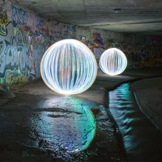 """Denis Smith - light painting - ball of light - """"There is so much post processing of photography today, I wanted to create something that was real, yet unreal. No pixels are added or subtracted from the Ball of Light images"""" - video - art therapy"""