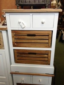 £95.00 Two box Brown draws and two white draws.