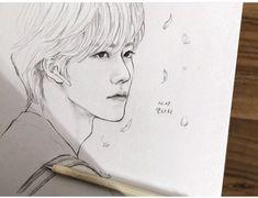 Pencil Sketches Easy, Pencil Drawings, Art Drawings, Boy Drawing, Manga Drawing, Cool Easy Drawings, Drawing Wallpaper, Kpop Drawings, Na Jaemin