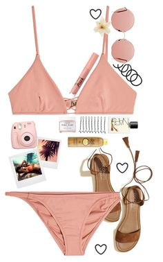 """""""Swimming today"""" by nataliastariha ❤ liked on Polyvore featuring Hollister Co., Melissa Odabash, NARS Cosmetics, BOBBY, Wet Seal, Christopher Kane, WALL, Polaroid, Clips and Kendall + Kylie"""