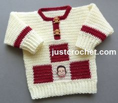 Free PDF baby crochet pattern for sweater http://www.justcrochet.com/sweater-usa.html #justcrochet