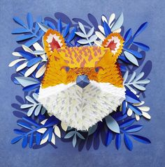 3D animal masks created with hundreds of tiny pieces of paper | Creative Boom. PD
