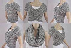 Предлагаю вашему вниманию японский шарф-трансформер.Этот чудо-аксессуар одним движением руки может легко пр