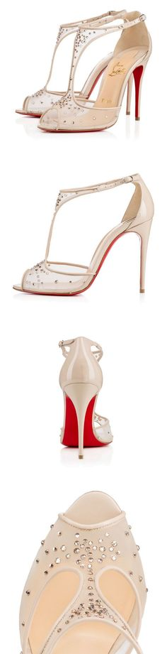 """Christian Louboutin """"Patinana"""" is the perfect bejeweled beauty to illuminate your evening looks this Spring/Summer."""