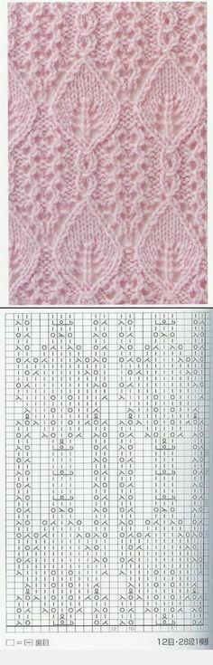 Lace Knitting Stitch #71 from Knitting Patterns Book 250 by Hitomi Shida