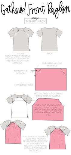 Sewing Blouse Tutorial Shirt Refashion 51 Ideas For 2019 Sewing Hacks, Sewing Tutorials, Sewing Tips, Learn Sewing, Tutorial Sewing, Blouse Tutorial, T Shirt Hacks, Sewing Blouses, Sewing Shirts