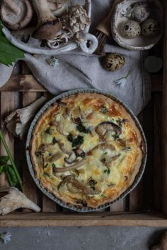 Woodland Mushroom Quiche with Foraged Garlic Mustard