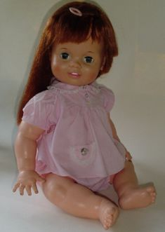 Baby Crissy - One of my favorite dolls.  You pulled a string on her back to make her hair short, and pulled her hair to make it long again.