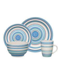 Take a look at this Gibson Designs Bay Stripe 16-Piece Dishware Set on zulily today!