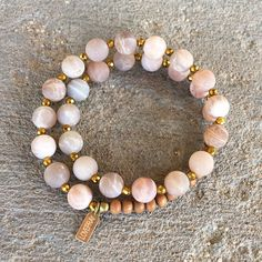 Sunstone is said to bring joy to the wearer. #joy #malas