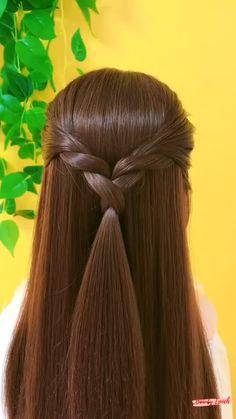 Hairdo For Long Hair, Easy Hairstyles For Long Hair, Up Hairstyles, Long Hair Buns, Front Hair Styles, Medium Hair Styles, Hair Style Vedio, Hair Tutorials For Medium Hair, Hair Ponytail Styles