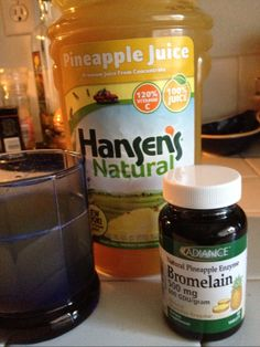 """A shot of pineapple juice with a side of bromelain = nature's """"cough, choke & sputter"""" elixir."""