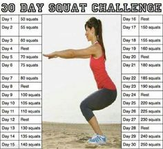 30 Day Squat Challenge Pictures, Photos, and Images for Facebook, Tumblr, Pinterest, and Twitter