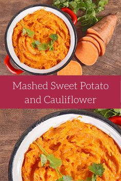Sweet Potato Cauliflower Mash - Slender Kitchen