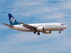 Air New Zealand 737 approaching Christchurch  Type: Boeing 737-3U3 Registration: ZK-SJC Location: Christchurch International Airport Date: 02/12/2012