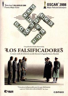 Los falsificadores: película austríaca de 2007 que narra la historia de un famoso falsificador judío usado por los nazis para fabricar dinero aliado durante la Segunda Guerra Mundial.