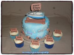 Fondant Toppers, Fondant Cupcakes, Cupcake Toppers, Icing, Cake Decorating, Happy Birthday, Fish, Sport, Facebook