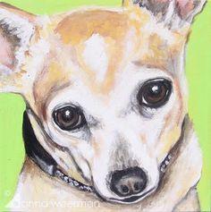 dog painting chihuahua