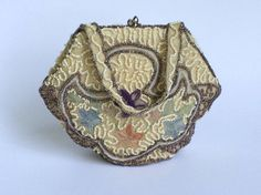 Art Deco Beaded Embroidered Purse Belgium by WhirleyShirley