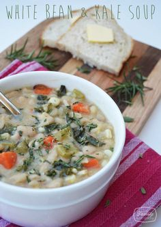 White Bean + Kale Soup | Family Gone Healthy