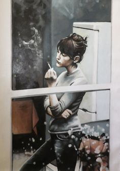 "Thomas Saliot; Oil, Painting ""window smoke"""