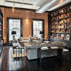 Le rêve de gosse, la bibliothèque avec son échelle ! Plus