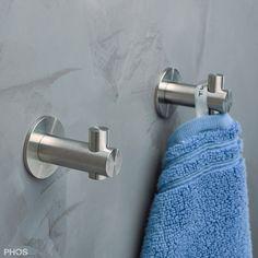 Handtuchhalter, Haken - Edelstahl, schlicht