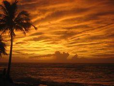 Caribbean Sunset After a Hurricane