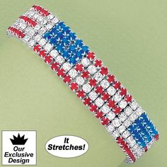 Patriotic Stretch Bracelet - AmeriMark - Online Catalog Shopping for Womens Apparel | Beauty Products | Jewelry | Womens Shoes | Health | Wellness