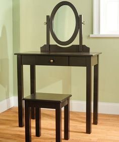 Take a look at this Espresso Vanity Set on zulily today!