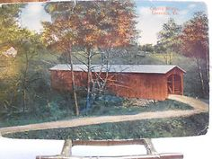 Vintage-W-E-Burgess-Scottsville-Va-PostCard-Of-County-Bridge-In-Leesville-Va