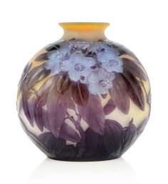 A GALLÉ MOULD-BLOWN CAMEO GLASS VASEEmile Gallé [French Art Nouveau Glassmaker, 1846-1904]More Pins Like This At FOSTERGINGER @ Pinterest