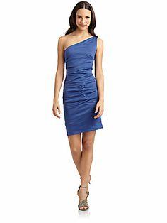 Nicole Miller One-Shoulder Dress
