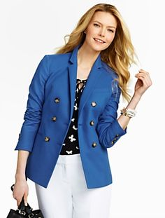 Talbots - Double-Breasted Jacket  $169 April 2015  
