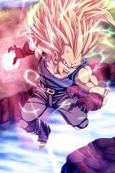 DBZ Super Saiyan 3 Vegeta Art. I really wish this would have happened in the show.