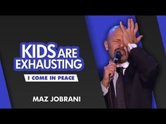 """""""Kids are Exhausting"""" Maz Jobrani, Michelle Obama, Exhausted, Keynote, Live For Yourself, Donald Trump, Parenting, Peace, Youtube"""