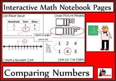 Newly released lesson for interactive math notebooks on comparing numbers. This resource gives students four strategies for comparing numbers, as well as a reflection page and a rubric for self evaluation. Download now for just $1.00.