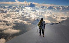 Standing above the clouds in the alps © Jose Sarrablo