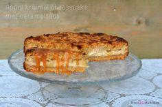 Als je het doet moet je het goed doen. En wel met deze heerlijke, zalige, echt onwijs lekkere appel kruimel cheesecake. Met caramelsaus welteverstaan!