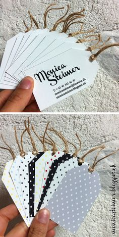 Business card label